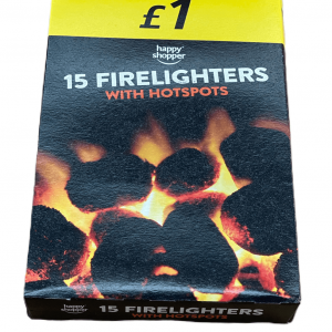 Happy Shopper Firelighters with Hotspots (15 Pack)