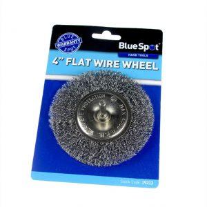 BlueSpot 100mm (4″) Flat Wire Wheel Brush