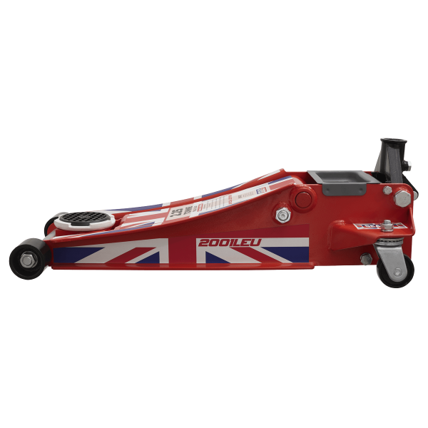 Sealey Trolley Jack 2.25 Tonne Low Entry Rocket Lift with Union Jack Flag
