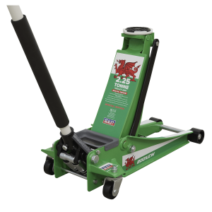 Sealey Trolley Jack 2.25 Tonne Low Entry Rocket Lift with Welsh Dragon Flag