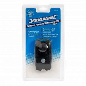 Silverline Squeeze Personal Alarm with LED