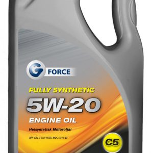 G-Force 5W-20 C5 Fully Synthetic Engine Oil 5L