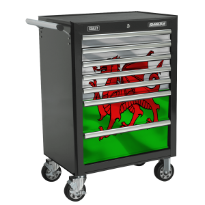 Sealey 7 Drawer Rollcab Kit with Wales Graphics