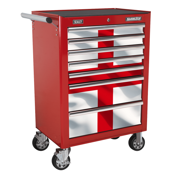 Sealey 7 Drawer Rollcab Kit with England Graphics