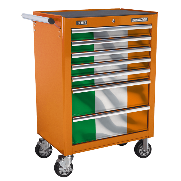 Sealey 7 Drawer Rollcab Kit with Republic of Ireland Graphics