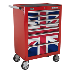 Sealey 7 Drawer Rollcab Kit with Union Jack Graphics