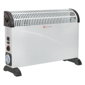 Sealey Convector Heater 2000W/230V with Turbo, Timer & Thermostat