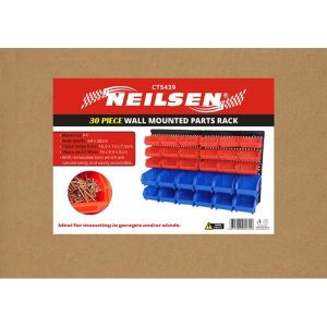 Neilsen 30pc Wall Mounted Parts Rack
